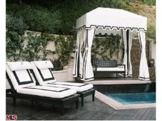 The dream Hollywood Regency pool decor