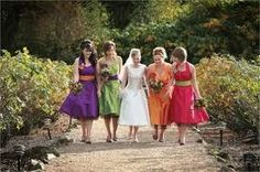 different colour bridesmaid dresses - Google Search