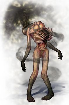 View an image titled 'Smog With Arms Art' in our Silent Hill Homecoming art gallery featuring official character designs, concept art, and promo pictures. Monster Concept Art, Alien Concept Art, Fantasy Monster, Dark Creatures, Fantasy Creatures, Silent Hill Art, Cool Monsters, Horror Monsters, Science Fiction