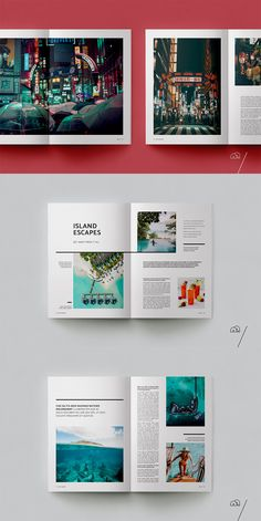 XPLORE Travel Magazine is a professional, modern template with a focus on exploration. The layouts have been designed with generic travel themes in mind to cover everything from guides to journals… Magazine Layout Inspiration, Layout Design Inspiration, Magazine Ideas, Magazine Layout Design, Book And Magazine, Magazine Layouts, Magazine Cover Design, Magazine Back Cover, Portfolio Design