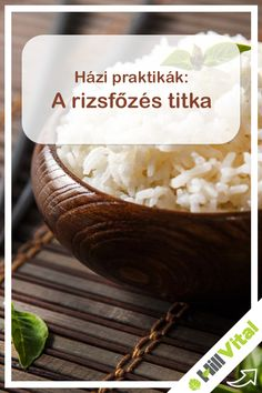 Igazi, finom párolt rizs készítése még gyakorlott háziasszonyokon is kifog néha. Ne ragadjon, ugyanakkor ne legyen túl száraz sem. Azoknak, akik még nem tudják a rizsfőzés titkát, most eláruljuk.  A titok az, hogy a rizst nem kell főzni. Pontosabban nem úgy, ahogy azt sokan elképzelik. De menjünk csak szép sorjában! Garlic Bread, Sushi, Side Dishes, Healthy Living, Paleo, Goodies, Food And Drink, Sweets, Vegan