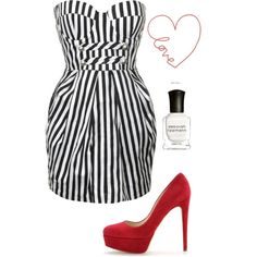 love, created by #bostonmarie on #polyvore. #fashion #style Forever Unique Rupert Sanderson