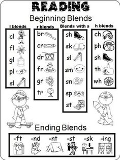 Free - Kindergarten/First Grade Help Pages for Reading and Math Folders