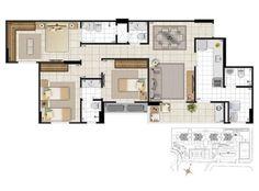 Apartamento de 3 quartos à Venda, Aguas Claras - DF - QD 208 - R$ 509.162,00 - 95,57m² - Cod: 1508041