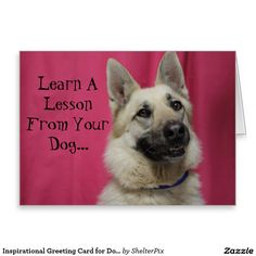 Inspirational Greeting Card for Dog Lovers