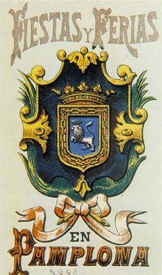 Cartel Sanfermines 1881 - Fiestas y ferias en  #Pamplona
