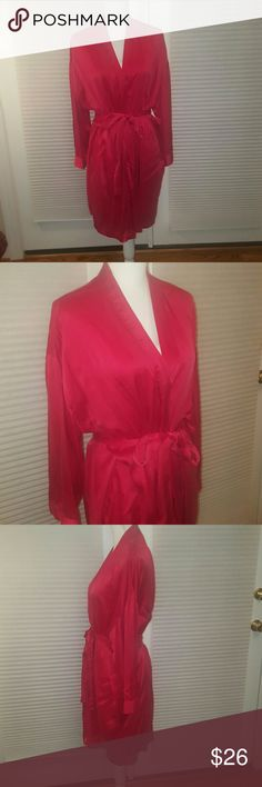 Victorias Secret red 100% silk kimono M/L Elegant and sexy Victoria's Secret red 100% silk kimono.  Size M/L.  Excellent condition!! Bundle and save 20%! Victoria's Secret Intimates & Sleepwear Chemises & Slips