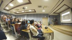 At Seo Il University, I presented my story. 110 students were with me.