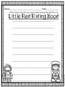 Little Red Riding Hood literacy and math activities! blog.printableprompts.com