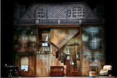 Cherry Tree Lane - Mary Poppins The Musical on Broadway....this is such a cool set. It's so cool when it opens!