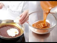 ▶ Technique de cuisine : Réaliser une sauce caramel et une garniture de caramel mou - YouTube