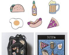 2AM Munchies Food and Snacks Embroidered Sticker Patch Set Munchies Collection