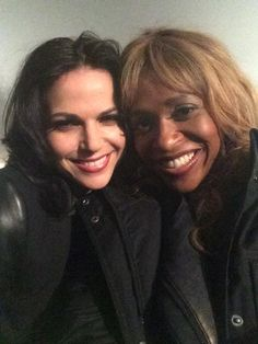 Lana and Ursula behind the scenes #evilregal