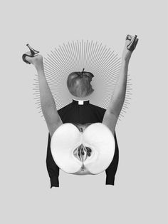 Collage by Emily Tu contemporary art, black and white, arte contemporanea, bianco e nero Love Collage, Mixed Media Collage, Collage Art, Digital Collage, Collages, Photomontage, Go For It, Black N White Images, Psychedelic Art