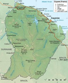 High quallity map of French Guiana