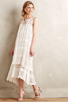 This Anthropologie Lacefall Dress is sweet!