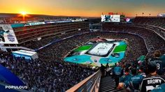 Architectural rendering of 2015 NHL Stadium Series at Levi's Stadium. Los Angeles Kings, San Jose Sharks, National Hockey League, Top Destinations, Santa Clara, Outdoor Games, Big Star, Nhl, Basketball Court