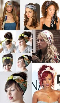how to wear scarves in hair
