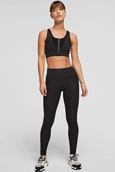 Karl Lagerfeld Damen Sportleggings Schwarz | SAILERstyle Karl Lagerfeld, Leggings, Skinny Fit, Calves, Thighs, Sporty, Fitness, Pants, Mesh