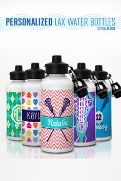 Stay hydrated at the beach with our cute personalized lax water bottles!