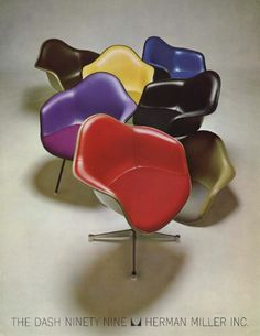 Eames chairs advertisement, Herman Miller, 1966