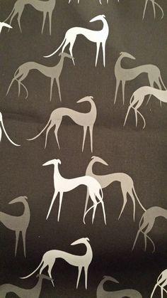 fabric by Anne Herrett Greyhound Art, Italian Greyhound, Magyar Agar, Whippet Dog, Lurcher, Grey Hound Dog, Irish Wolfhound, Animal Quotes, Dog Art