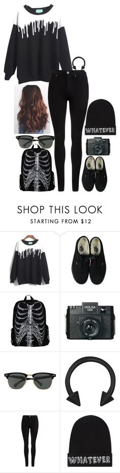 """bates motel"" by animeandbandstuff ❤ liked on Polyvore featuring moda, Vans, Holga, Ray-Ban, Dr. Denim y Local Heroes"