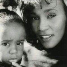 Whitney Houston (R.I.P.) and baby Bobbi Kristina (R.I.P.)