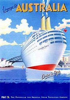 P&O Canberra Travel poster