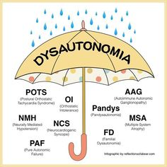 October is Dysautonomia Awareness Month. #Dysautonomia is an umbrella term for several conditions that affect the Autonomic Nervous System. Learn more at dysautonomiainternational.org   @dysautonomiaintl  #dysautonomiaawareness #invisibleillawareness #invisibleillness #chronicillness #disability #fatigue #chronicpain #spoonie #warrior #migraine #pots #chronicallyill #dysautonomiaawareness #spoonielife #chronicfatigue #findacure #potsie #ehlersdanlossyndrome #cure #awareness #spoonies…