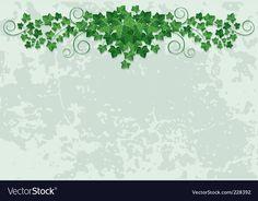 Wall with ivy vector image on VectorStock Ivy Leaf, Adobe Illustrator, Vector Free, Grunge, Pdf, Illustration, Wall, Walls, Illustrations
