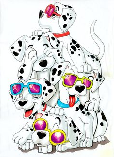 101 Dalmatians by ~napolux on deviantART