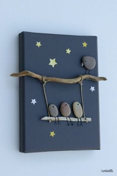nature crafts for kids ; easy nature crafts for kids ; nature crafts for kids preschool ; nature crafts for kids summer ; nature arts and crafts for kids Stone Crafts, Rock Crafts, Crafts To Make, Easy Crafts, Modern Crafts, Crafts With Rocks, Twig Crafts, Diy Home Crafts, Diy Arts And Crafts