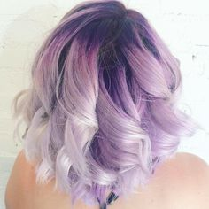 This pretty pastel purple color melt blends shades of dark amethyst, lavender, lilac and icy, cool platinum. Color by Juut Salonspa.