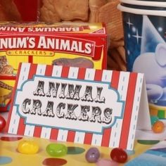 Circus Party Food Cards (24)