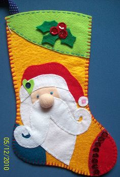 Crafts For Kids, Arts And Crafts, Xmas Stockings, Wool Applique, Quilt Patterns, Art Projects, Christmas Crafts, Santa, Quilts