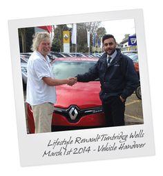 Renault Clio Vehicle Handover at Tunbridge Wells Renault in Kent