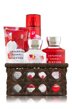Japanese Cherry Blossom Basket of Favorites Gift Kit - Signature Collection - Bath & Body Works