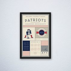 New England Patriots Stats Print par DesignsByEJB sur Etsy