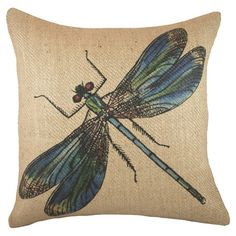 Dragonfly Pillow.