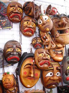 Korean Masks by Richard Macalino, Korea.