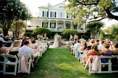 Ceremony at The Governor Thomas Bennett House | Designed by Engaging Events | Charleston Sc Wedding