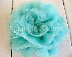 $2.65 Shabby Chic Big Chiffon and Lacy Tulle Flowers by appliquesource