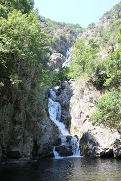 Marmarico's falls,, the highest of Southern Italy