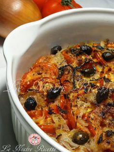 Teglia di pomodori e cipolle profumati al timo | Le Nostre Ricette