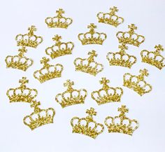 Gold Crown Embellishments Princess Prince Queen by CardsbyGaynor