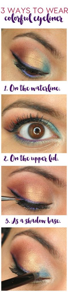 How To Wear Colorful Eyeliner - Painted Ladies