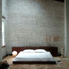 Bedroom bagged bricks