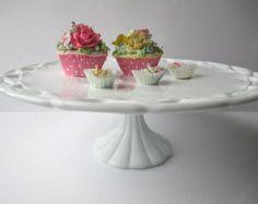 Large Vintage Pitman Dreitzer Colony Lace Cake Stand