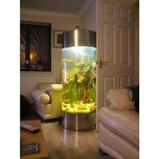 Stainless Steel Acrylic Column Cylinder Aquarium Fish Tank All Pond Solutions